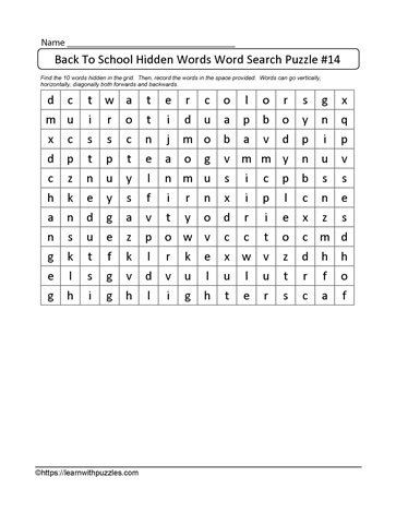 BTS Word Search Puzzle