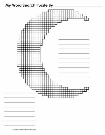 Word Search Blank - Moon