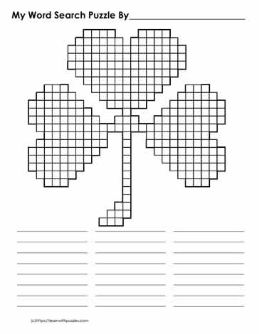 St. Patrick's Day Blank Word Search
