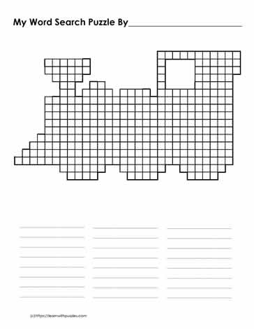 Free Train Word Search