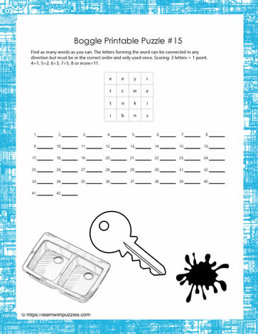 photograph regarding Boggle Printable named Printable Boggle Puzzle Discover With Puzzles