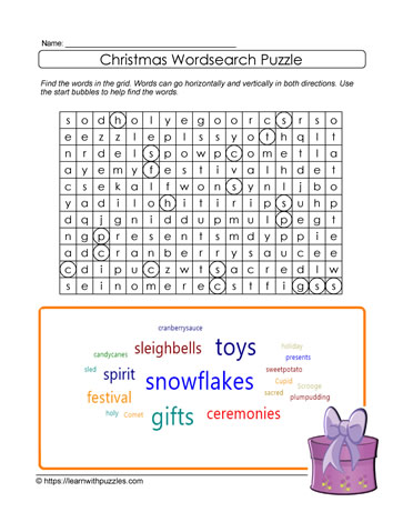 Printable Wordsearch Puzzle
