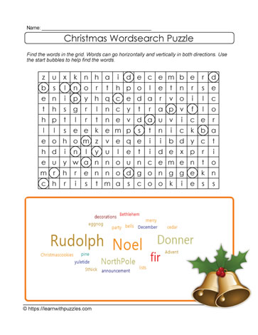 picture regarding Christmas Word Search Puzzles Printable referred to as Xmas Phrase Glimpse Printable Discover With Puzzles