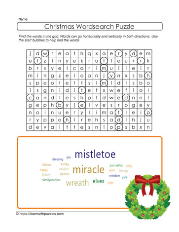 Word Search Xmas Puzzle