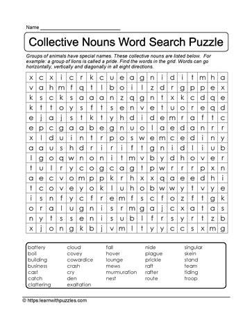 Search A Word Puzzle