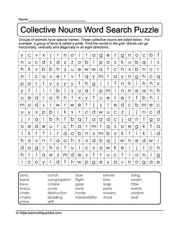 Easy Word Find Puzzle
