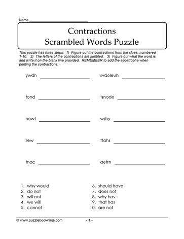 Word Puzzle Scramble