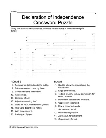 Crossword Challenge