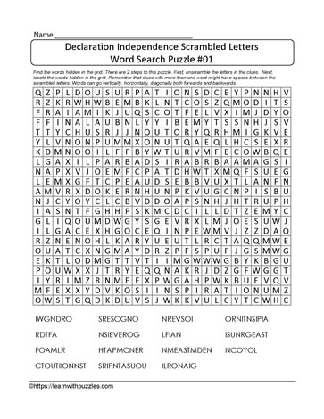 Scrambled Word Searches
