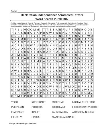Scrambled Letters Word Search