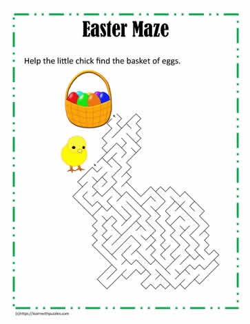 Maze Puzzle Easter
