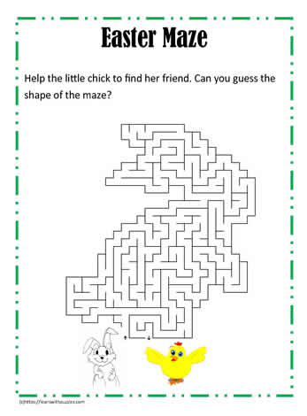 Easter Rabbit Shaped Maze