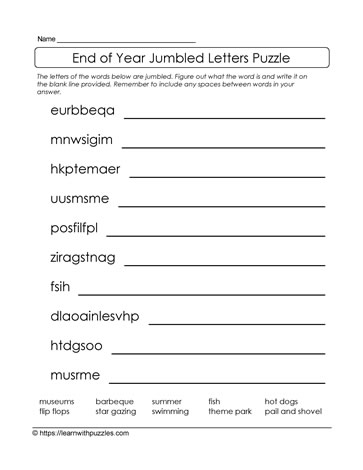 Puzzle With Jumbled Letter Patterns