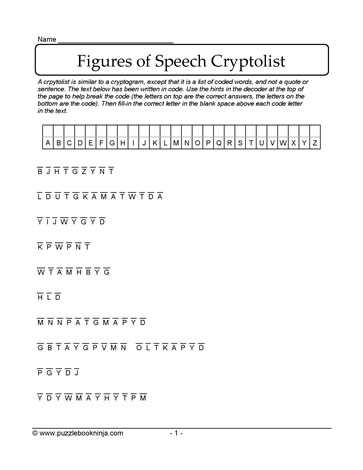 Figure of Speech Puzzle