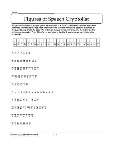 Cryptolist of Figures of Speech