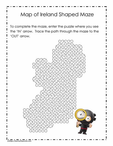 Map of Ireland Maze