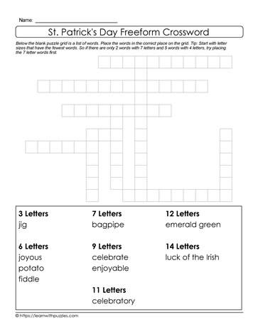 Celebrate St. Patrick's Day Puzzle