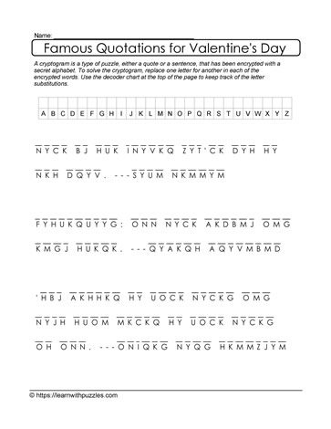 3 Famous Quotations Cryptogram