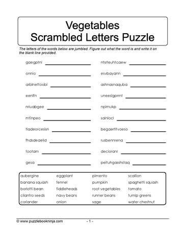 Scramble Letters Puzzle Learn With Puzzles