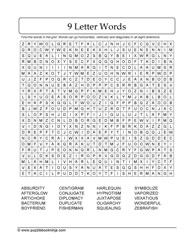 Word Search-9-Letters