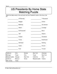 Matching States Puzzle