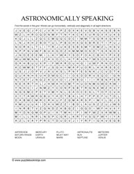 Astronomy SearchWord Puzzle