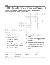 Easy Back To School Puzzle