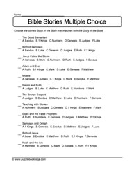 Bible Stories Multiple Choice - 2