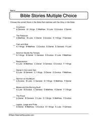 Multiple Choice Bible Stories