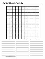 11 x 11 Blank Word Search Grid