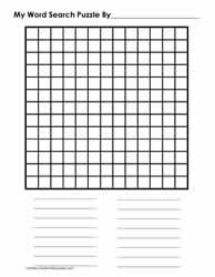 13 x 13 Blank Word Search Grid