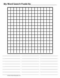 15 x 15 Blank Word Search