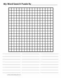 17 x 17 Word Search Blank Grid