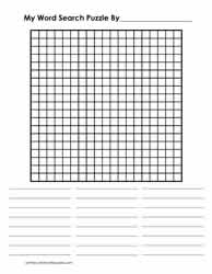 19 x 19 Blank Word Search Grid