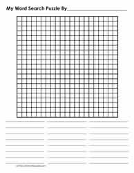 21 x 21 Blank Word Search