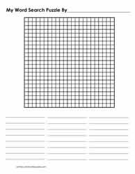 23 x 23 Blank Word Search Grid