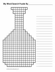 Bottle Shaped Blank Puzzle Grid