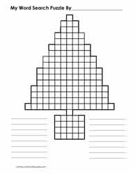 Tree Shaped Blank Word SearchGrid