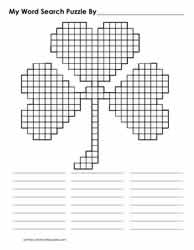 Blank Cloverleaf Shaped Grid