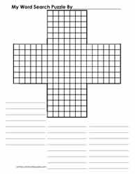 Cross Shaped WordSearch-Blank