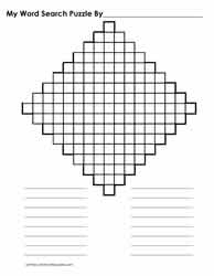17 x 17 Diamond Shaped WordSearch Blank