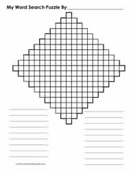 21 x 21 Diamond Shaped Blank Word Search Grid