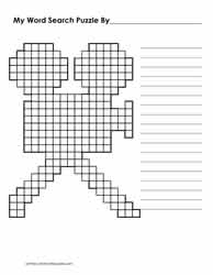 Film Shaped Blank Word Search Sheet