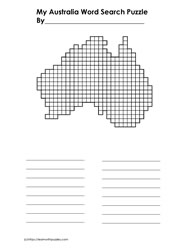 Australia Blank Word Search Grid