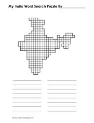India Blank Word Search Grid