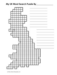 UK Shaped Word Search