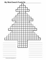 Blank Word Search Grid Tree Shape