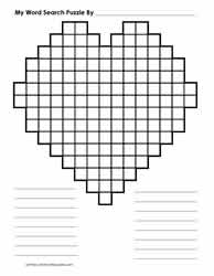 Blank Word Search For Valentine's Day