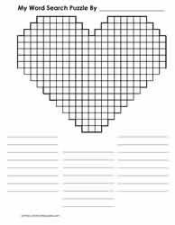 Valentine's Day Blank Word Search