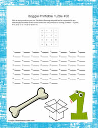 Boggle Game Printable
